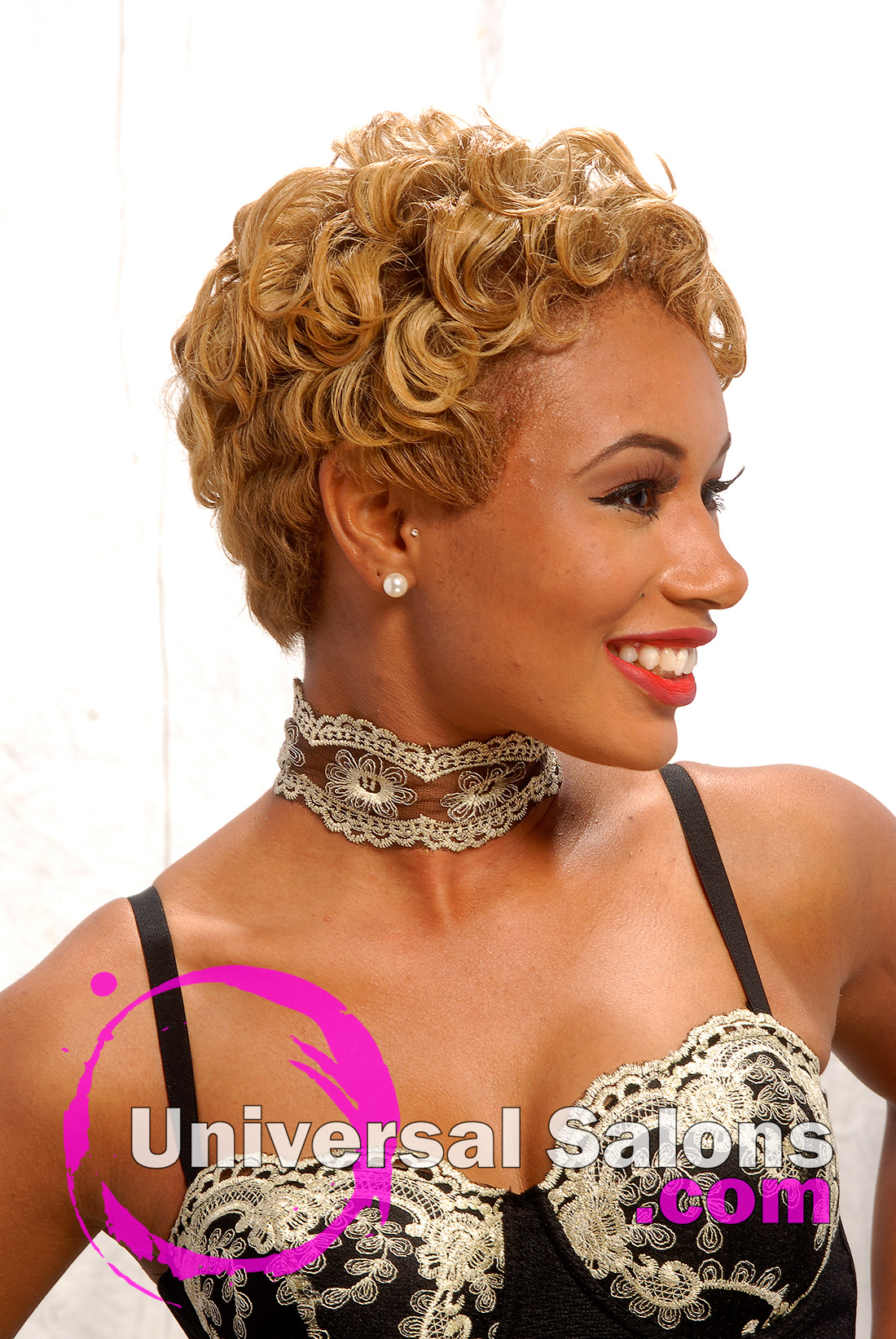 Miraculous Blonde Pin Curl Hairstyle From Deirdre Clay Hairstyles For Women Draintrainus