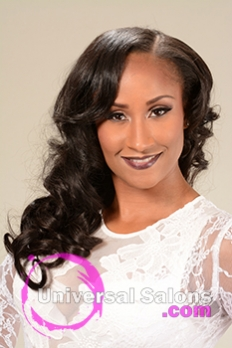 Frontal View of a Long Hairstyle for Black Women with Soft Curls from Marcus Doss