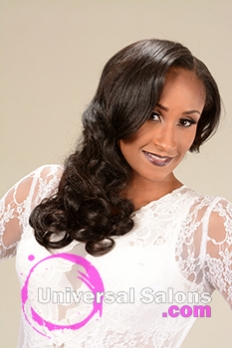 Right Side View of a Long Hairstyle for Black Women with Soft Curls from Marcus Doss