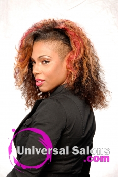Curly Hairstyle with Hair color from Melissa Green