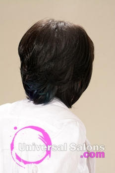 Back View of a Mid Length Bob Hairstyle for Black Women from Melissa Green