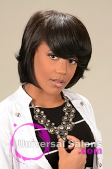 Frontal View of a Mid Length Bob Hairstyle for Black Women from Melissa Green
