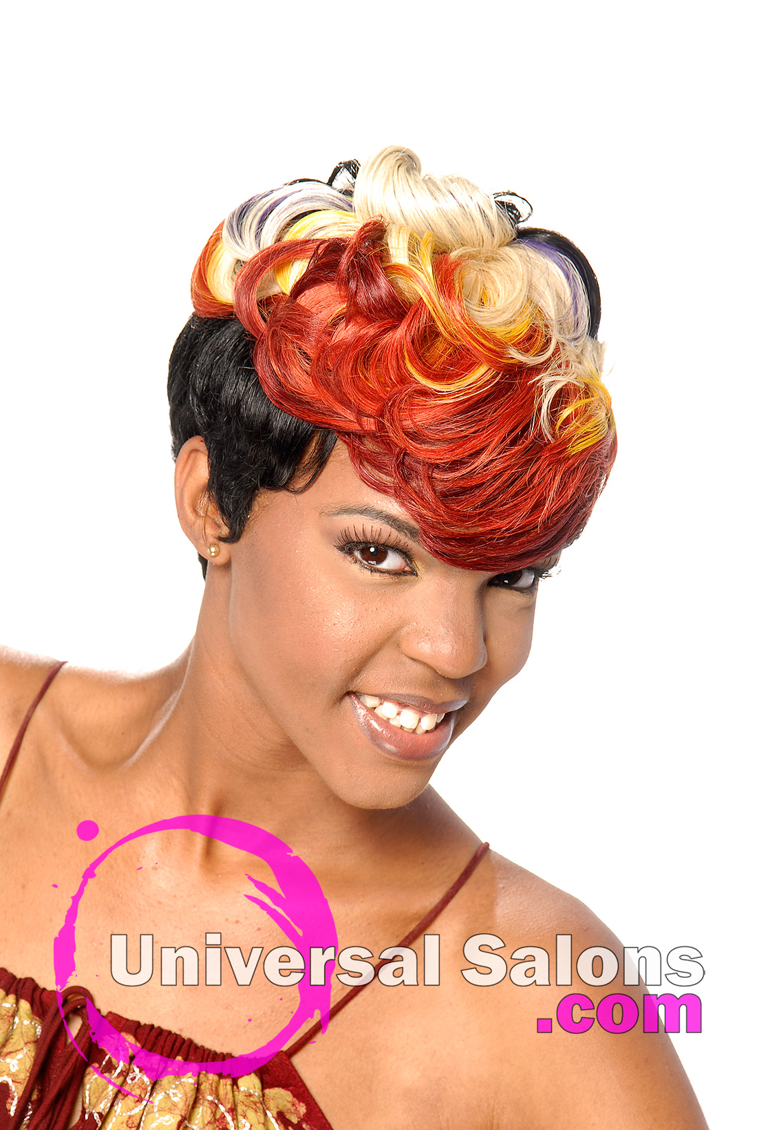 Swell Quick Weave Universal Salons Hairstyle And Hair Salon Galleries Short Hairstyles Gunalazisus