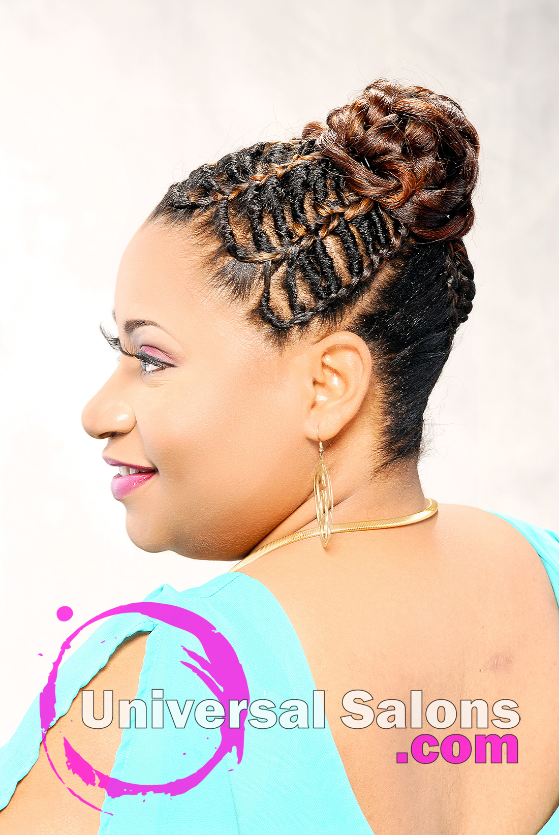 Twisted Links and Inverted Braids Hairstyle from Pam Webster
