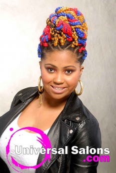 Bold Multi-Colored Box Braids Hairstyle from Shae Thompson (2)