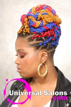 Bold Multi-Colored Box Braids Hairstyle from Shae Thompson (3)