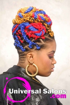Bold Multi-Colored Box Braids Hairstyle from Shae Thompson (4)