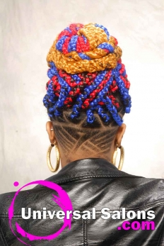 Bold Multi-Colored Box Braids Hairstyle from Shae Thompson (5)