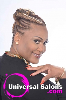 Check Out this Goddess Cornrow Updo from Patricia Clinkscales (2)