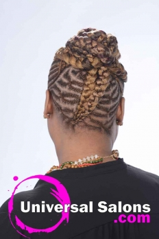 Check Out this Goddess Cornrow Updo from Patricia Clinkscales (3)