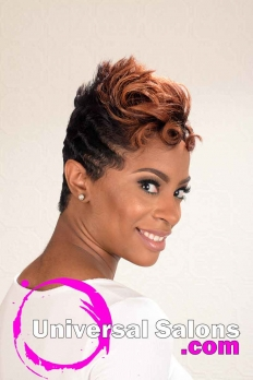 Flaming Desire Short Hairstyle with Spikes from ShaTrenia Heiskell (4)