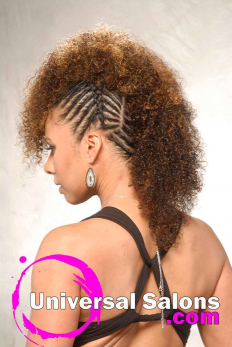 Highlighted Twisted Fohawk Hairstyle from Talia Brown Williams (3)