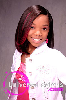 A Young Girl S Quot Pretty In Pink Quot Spunky Hairstyle From