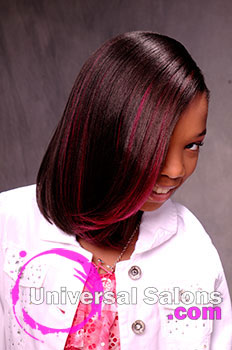 A young girl 39 s pretty in pink spunky hairstyle from for 10 gems salon beaufort sc