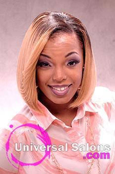 Shakia allen 39 s blonde bomb shell medium bob hairstyle for 10 gems salon beaufort sc