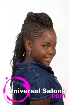 Kid's Braided Black Hairstyle from Mel Wright (1)