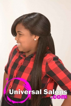 Long Kid's Hairstyle with Side Bangs from RaTishayehshen Bacon (5)