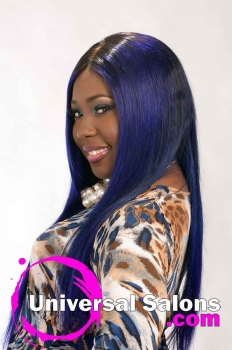 Long Royal Blue Hairstyle for Black Women from Evenia Bush (3)