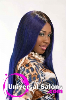 Long Royal Blue Hairstyle for Black Women from Evenia Bush (4)