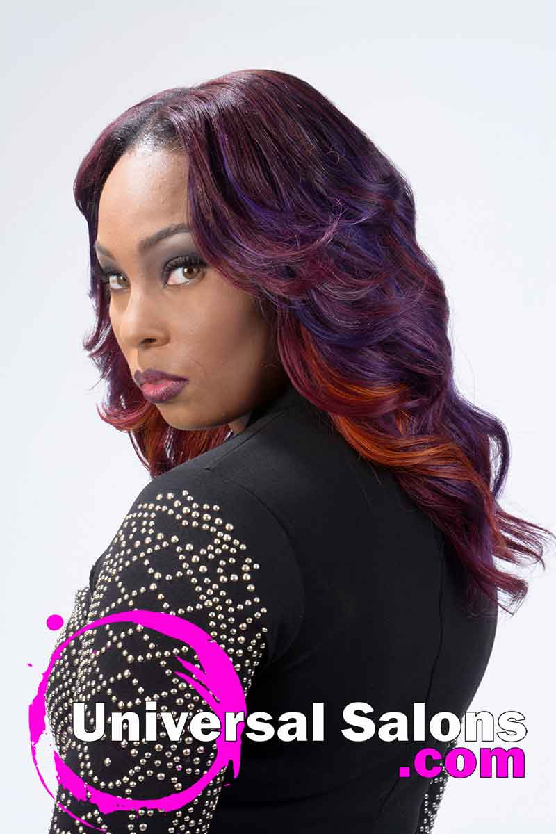 Long Sew In Weave Hairstyle With Color From Nakia Boykin