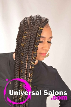 Long Sideway Sassy Braids Hairstyle from Amber McClain (3)