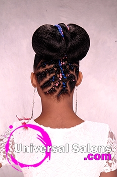 Magnificent Chidren39S Updo Hairstyle With Twisties From Tanisha Higgins Short Hairstyles Gunalazisus