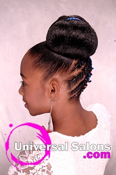 Strange Chidren39S Updo Hairstyle With Twisties From Tanisha Higgins Short Hairstyles Gunalazisus