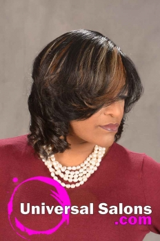 Natural Flat Ironed Hairstyle with Color from Ashley Tolbert (2)
