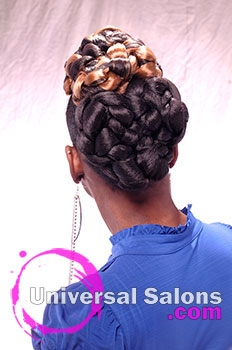 Twisted elegance natural updo from felicia maine for 10 gems salon beaufort sc
