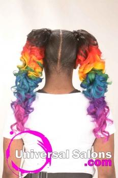 Rainbow Cascade Ponytails from Jameka Davenport (4)
