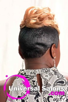 Short Blonde Hairstyle with Tapered Sides from Katina King (5)