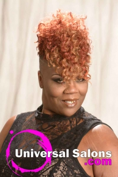 Short Curly Hairstyle with Tapered Sides from Katina King (2)