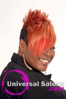 Short Hairstyle with Copper Hair Color from Kenya Young (2)