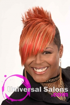 Short Hairstyle with Copper Hair Color from Kenya Young (5)