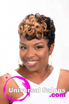 Short Hairstyle with Pin Curls and Color from Leona Burns (1)