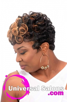 Short Hairstyle with Pin Curls and Color from Leona Burns (2)