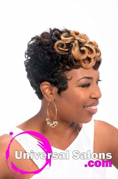 Short Hairstyle with Pin Curls and Color from Leona Burns (3)