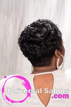 Short Relaxed Hairstyle with Pin Curls from Melisa Marshall (5)