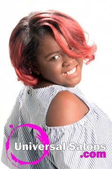 Silk Press with Color Melt Ombre Hairstyle from Dominique Blount (3)