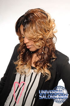 Denise Granberry's Long Hairstyle with Hair Color and Curls