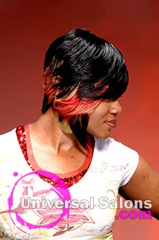 Tiffany Cunningham's Short Hairstyle with Hair Color