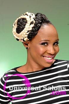 Lacheryl Melvin-Leophart's Braided Updo Hairstyle
