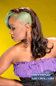 Deirdre Clay's Green Goddess Long Curly Sew-In Hairstyle