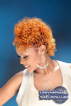 Curly Mohawk Hairstyle with Color from Ayanna Graves