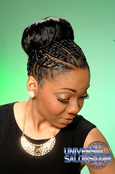 Updo Hairstyle with Interlocked Twists from Pamela Webster