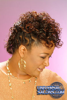Curly Hairstyle with Twist and Color from Earlisia Torrence