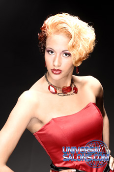 Short Hairstyle with Curls and Blonde Hair Color from Deirdre Clay