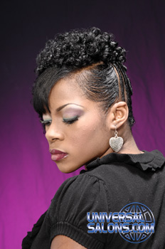 Twisted Side Ponytail with a Swoop Bang from Janna Gray