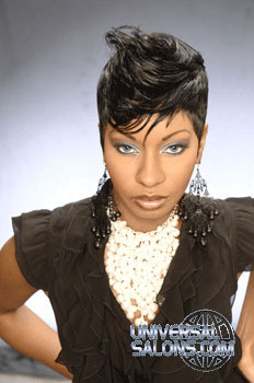 Short Tapered Bond Black Hairstyle from Marcus Doss