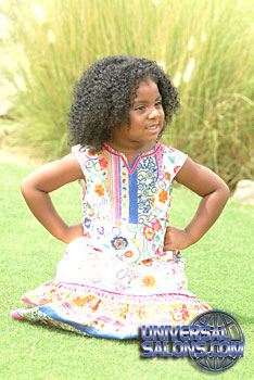 Little Girl with Tight Afro Curls